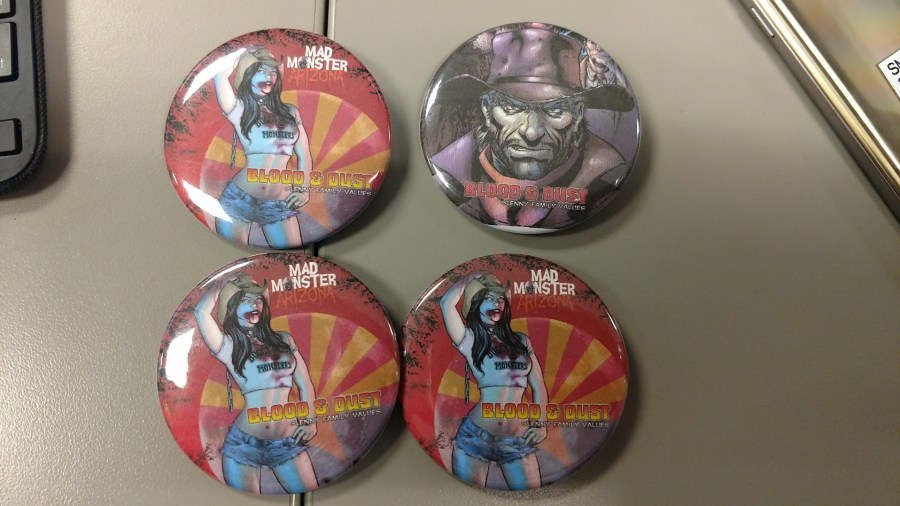 Mad Monster Buttons