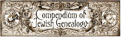 B&F Compendium of Jewish Genealogy