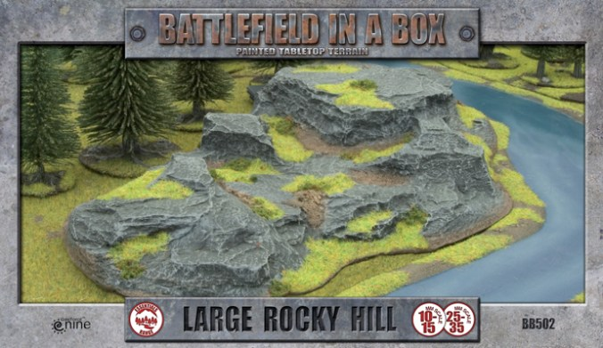 large rocky hill