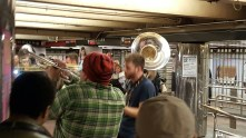 The kind of day bands with tuba players are jumping up and down making wonderful noise in the subways.