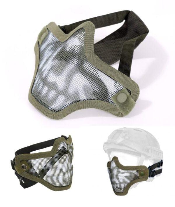 Mesh Facemask - Olive Drab Skull