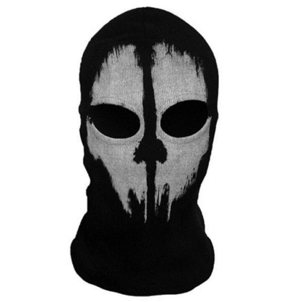 Bivakmuts Balaclava Katoen - Skull #1
