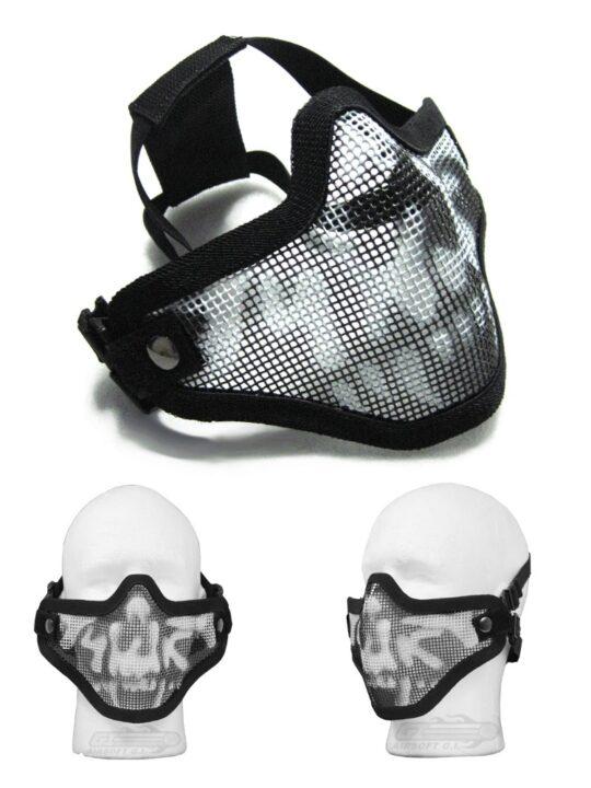 Mesh Facemask - Black Skull