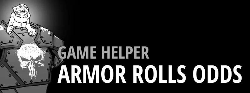 Game Helper -Armor Rolls