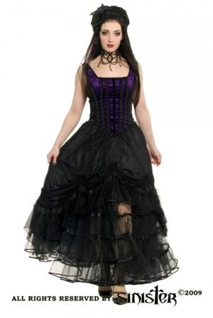 robe sinister victorienne burlesque noir violet