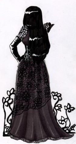 Gothique de dos - dessin par Serafina