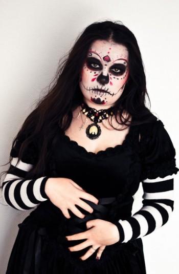 La Catrina make up halloween calavera
