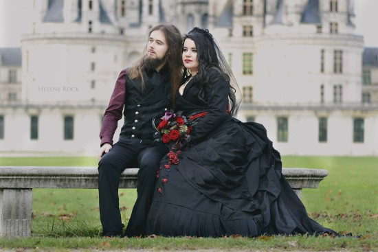 gothic wedding sandrine alexandre 3