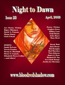 Night to Dawn 23 features zombies, vampires, and dark fantasy.