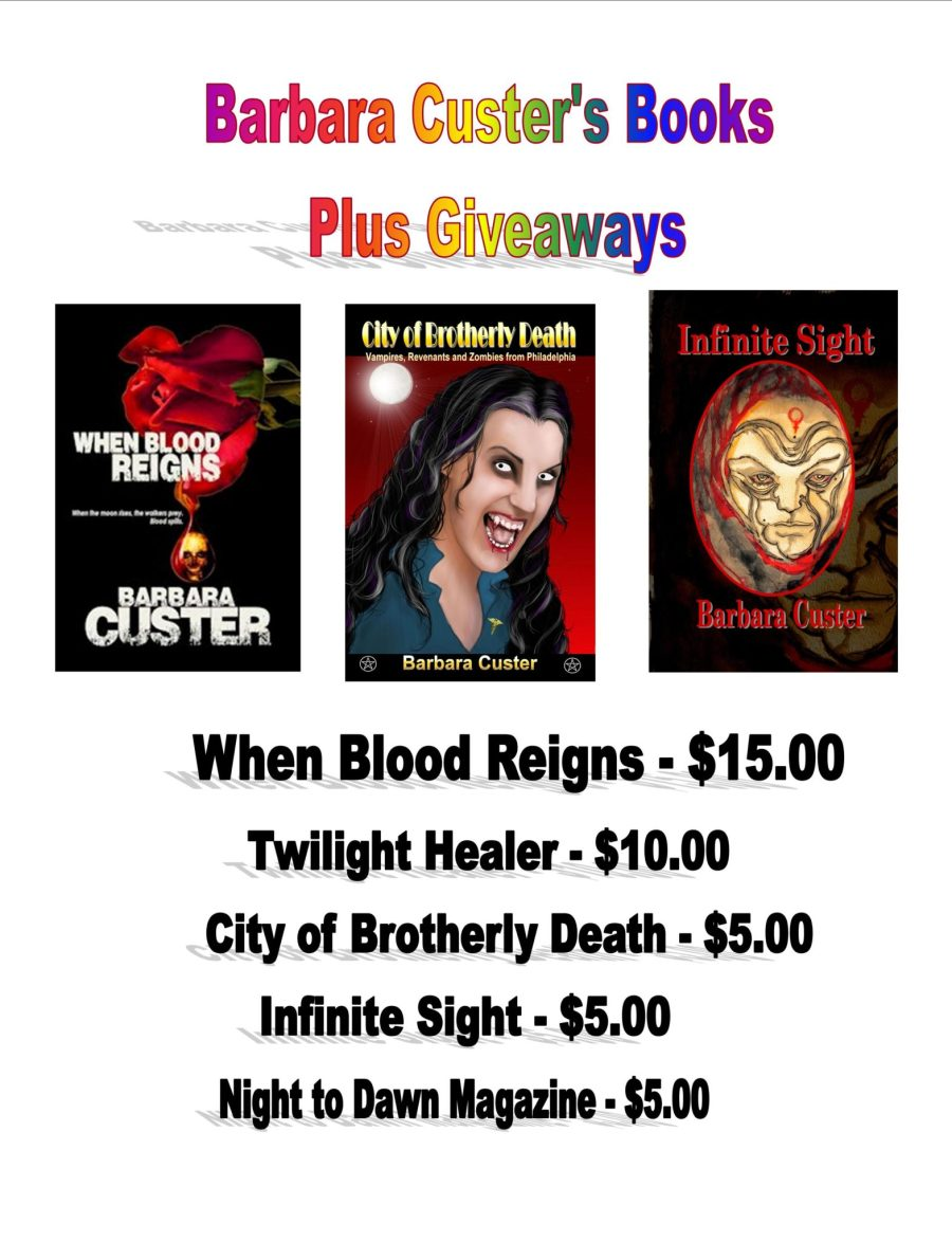 Barbara Custer will be signing her horror and zombie fiction books.