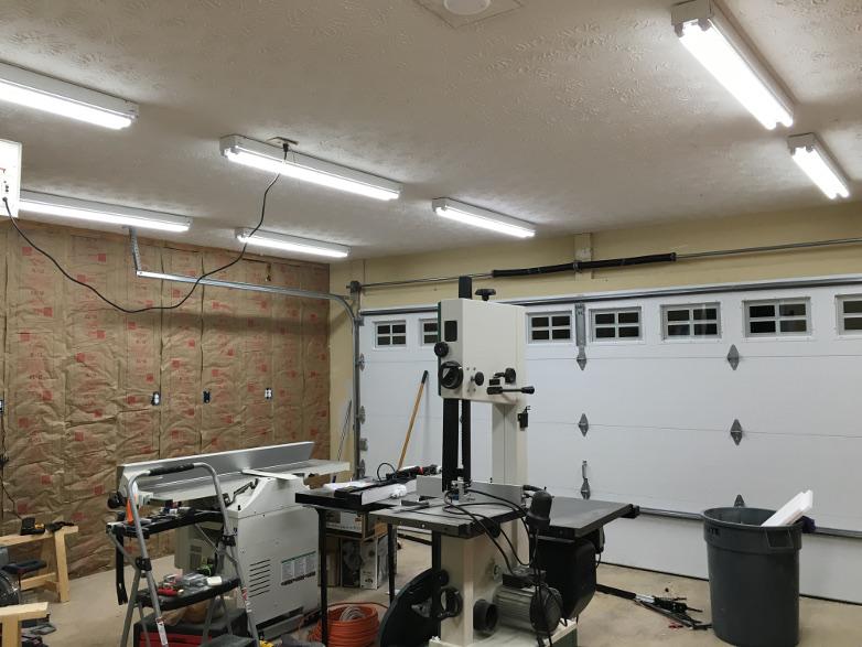garage workshop lighting blood sweat