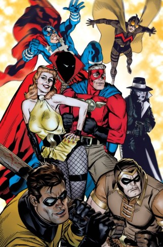 Michael Golden's cover of Minutemen #1