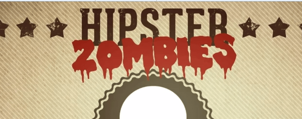 Hipster Zombies Logo