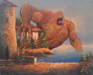 adding-monsters-to-thrift-store-landscape-paintings-chris-mcmahon-4
