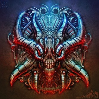biomechanical_chrome_skull_by_noistromo-d5g384l