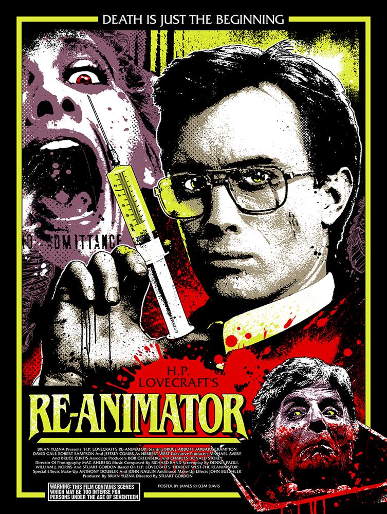 Re-Animator (Reanimator) Vintage Movie Poster | 1 Sheet