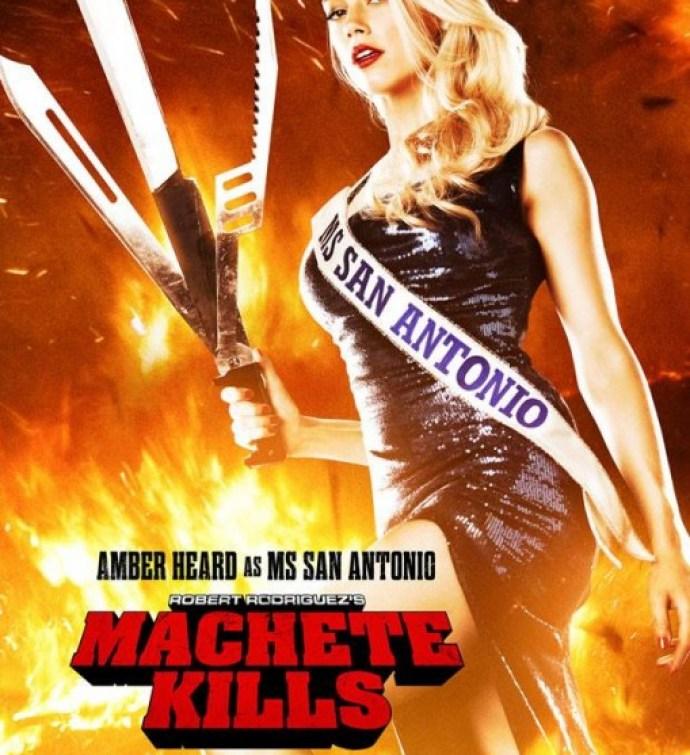 Zoe Kravitz Vs Amber Heard: Latest 'Machete Kills' Poster Features Amber Heard