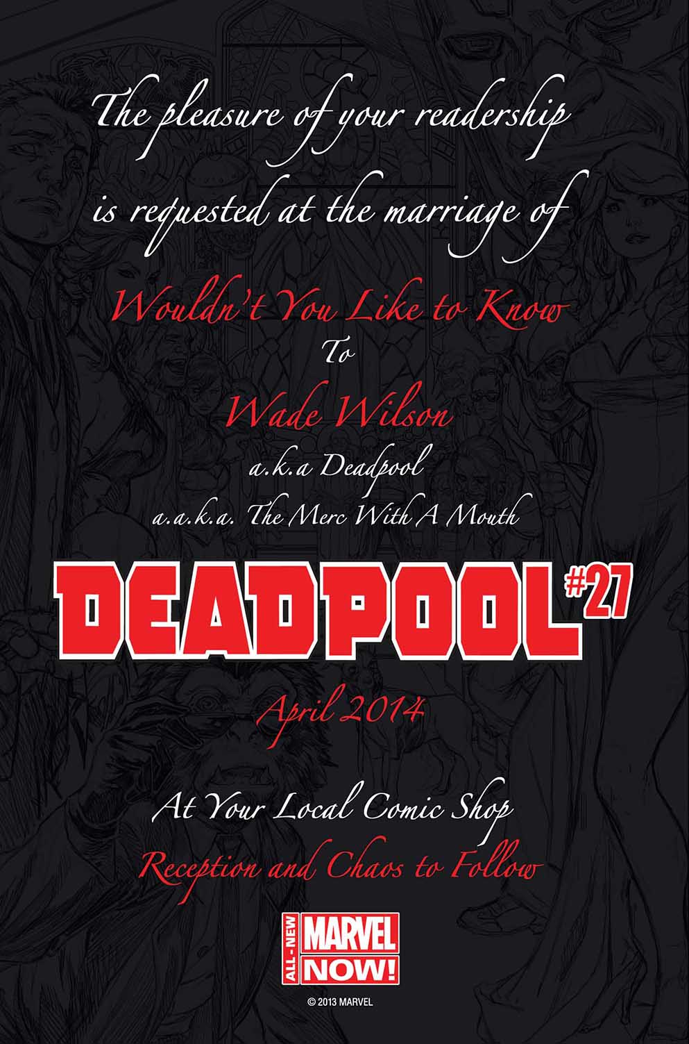 Marvel Invites You To Deadpool\'s Wedding This April! - Bloody Disgusting