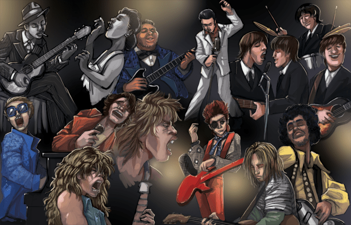 Rockers Through The Ages Double Page Spread