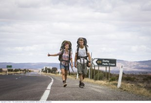 WolfCreek2_Shannon Ashlyn as Katarina and Phillipe Klaus as Rutger_on road hitchhicking 1