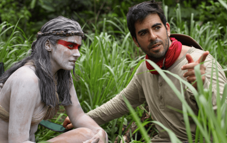 Here's Eli Roth With Lorenza Izzo On 'The Green Inferno' Set