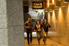 Cliff Curtis as Travis, Elizabeth Rodriguez as Liza and Lorenzo James Henrie as Chris - Fear The Walking Dead _ Season 1, Episode 2 - Photo Credit: Justina Mintz/AMC