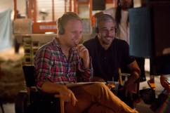 """Director Robbie Pickering and Producer Matt Tolmach on the set of Columbia Pictures' """"Freaks of Nature."""""""