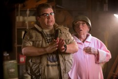 """Patton Oswalt and Nana Miller in Columbia Pictures' """"Freaks of Nature."""""""