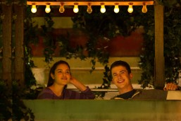 """Odeya Rush, left, and Dylan Minnette in Columbia Pictures' """"Goosebumps,"""" staring Jack Black."""