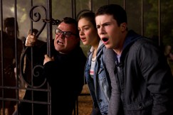"""L-r, Jack Black, Odeya Rush and Dylan Minette and star in Columbia Pictures' """"Goosebumps."""""""