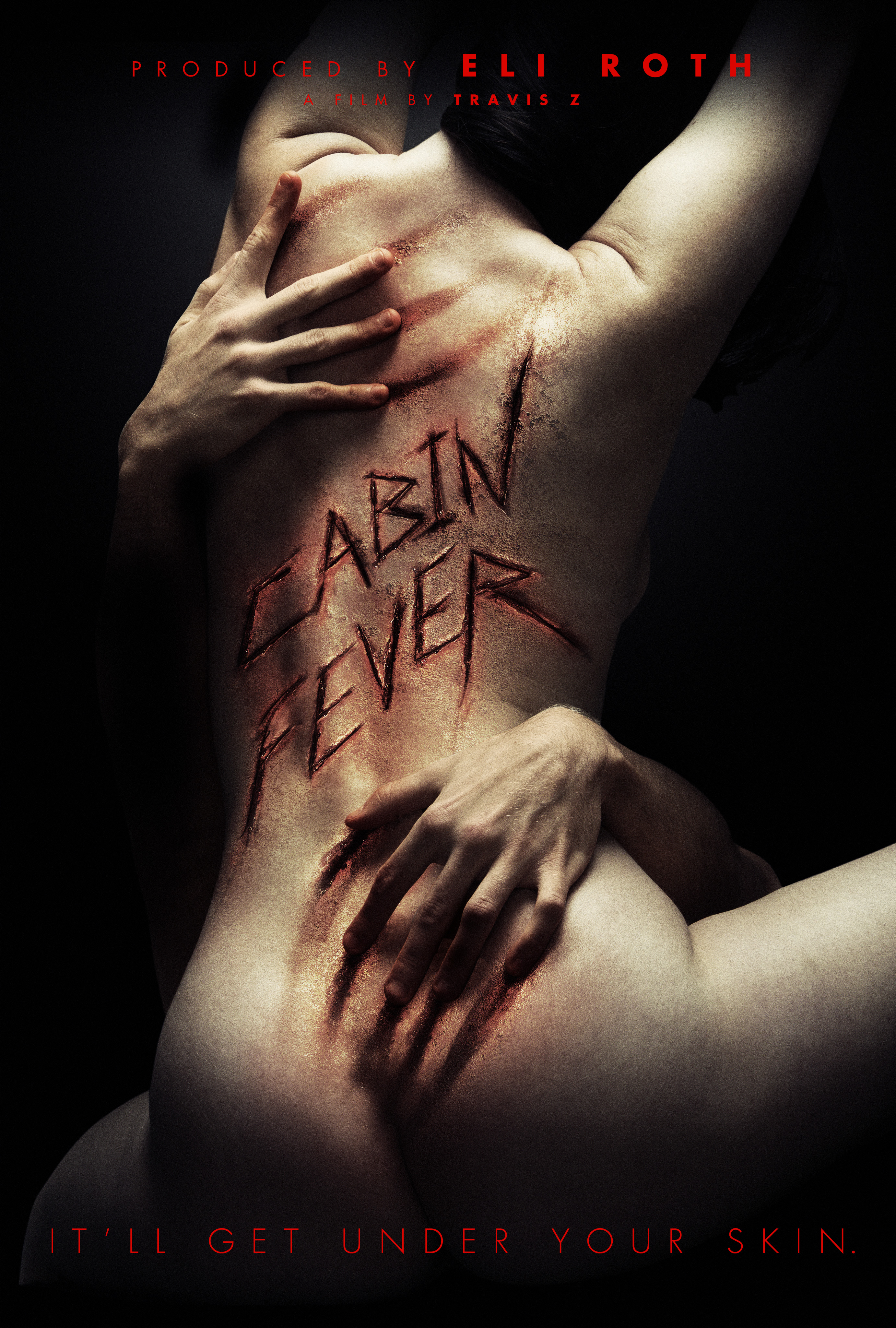 alternate u0027cabin fever u0027 poster carved out in blood exclusive