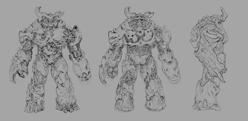 Cyberdemon Orthographic