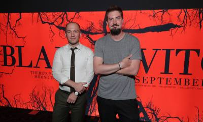 Adam Wingard and Simon Barrett at Lionsgate's Comic-Con BLAIR WITCH event