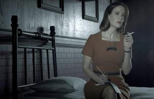 AMERICAN HORROR STORY: ASYLUM -- Pictured: Sarah Paulson as Lana Winters -- CR: Frank Ockenfels/FX