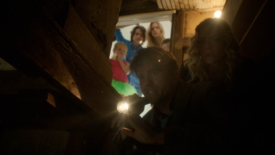 Jason Ritter, Jaime King, Brighton Sharbino, Rio Mangini, Kingston Foster and Jason Maybaum appear in Bitch by Marianna Palka, an official selection of the Midnight program at the 2017 Sundance Film Festival. © 2016 Sundance Institute | photo by Armando Salas.