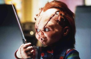 Child's Play (1988) Directed by Tom Holland Shown: Chucky, a doll whose body has been inhabited by the soul of a psychotic mass murderer