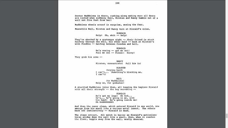 Nightmare 3 - Script Page