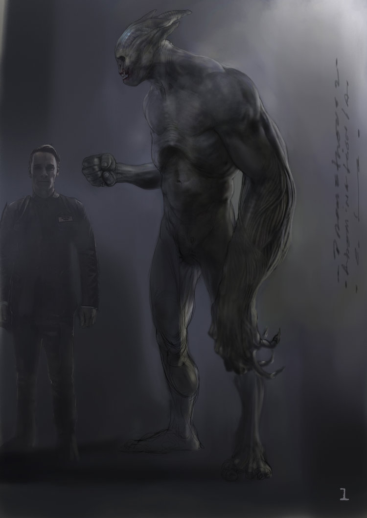 tons of alien covenant concept art nightmarish early