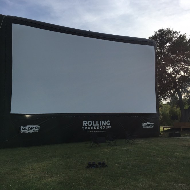The inflatable screen used at Rolling Roadshow screenings.