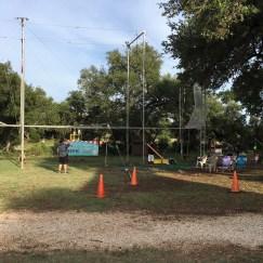 The trapeze course.