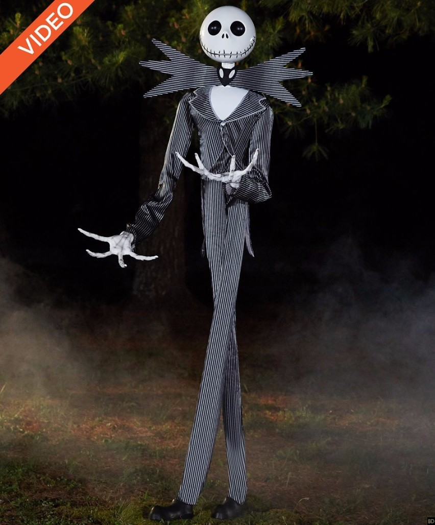 Spirit halloween unleashes 6 foot tall jack skellington - Jack skellington decorations halloween ...