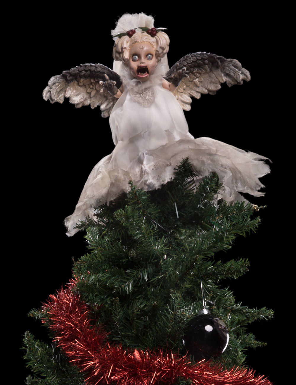 Bloody Christmas Tree.Michael Dougherty S Krampus Gets Official Ornaments Tree