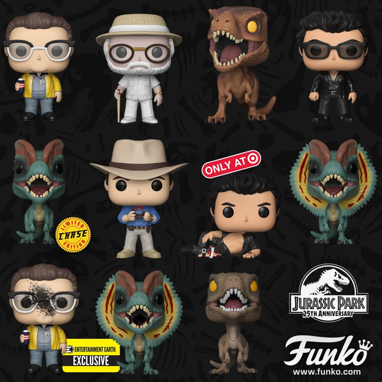 Jurassic Park Pop Vinyl Exclusives Include Shirtless