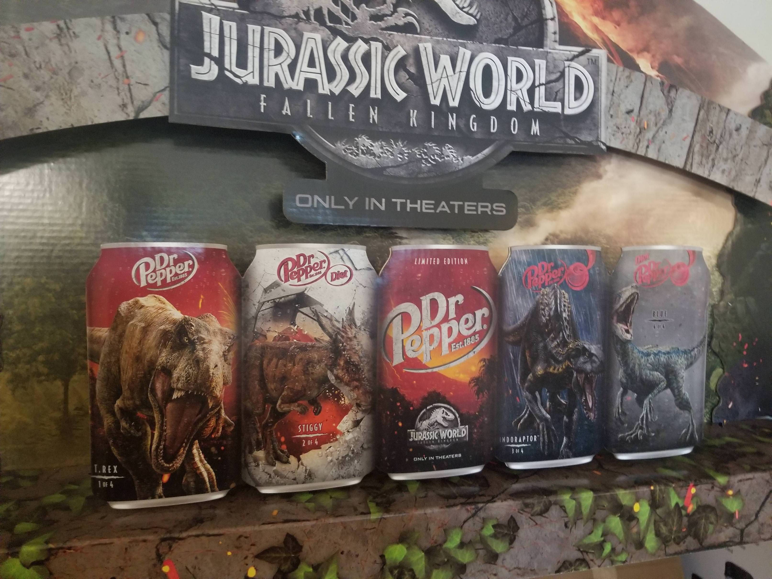 39 Jurassic World Fallen Kingdom 39 and Dr Pepper Join
