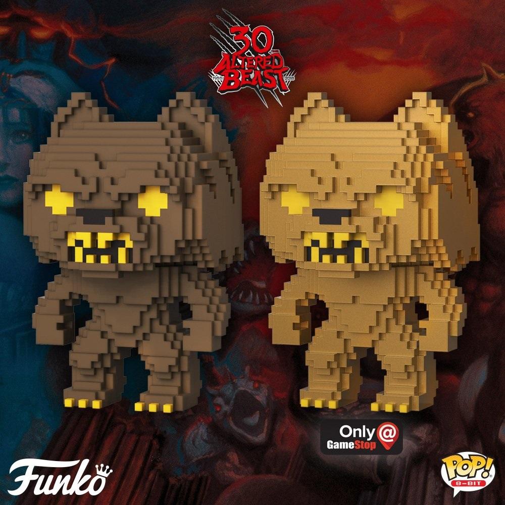 Werewolf Gold 8-Bit Pop Altered Beast FunKo Free Shipping! Vinyl