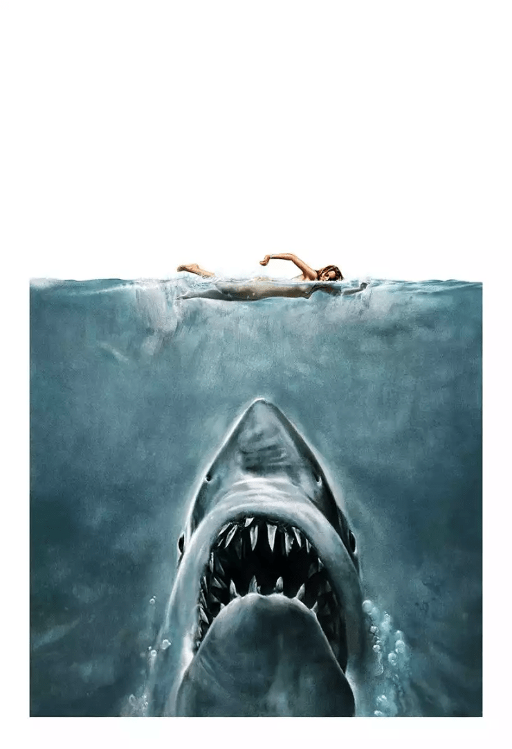 Original Jaws Poster Painting Has Been Recreated In