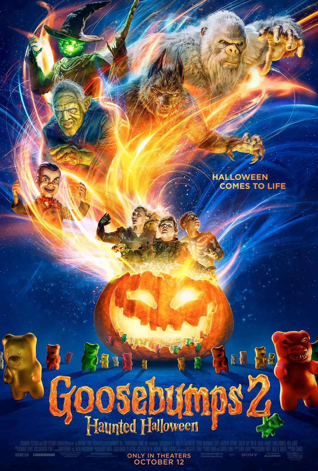 gummy bears and monsters escape 'goosebumps 2: haunted halloween
