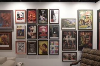 A wall of limited edition horror art and signed horror memorabilia 2