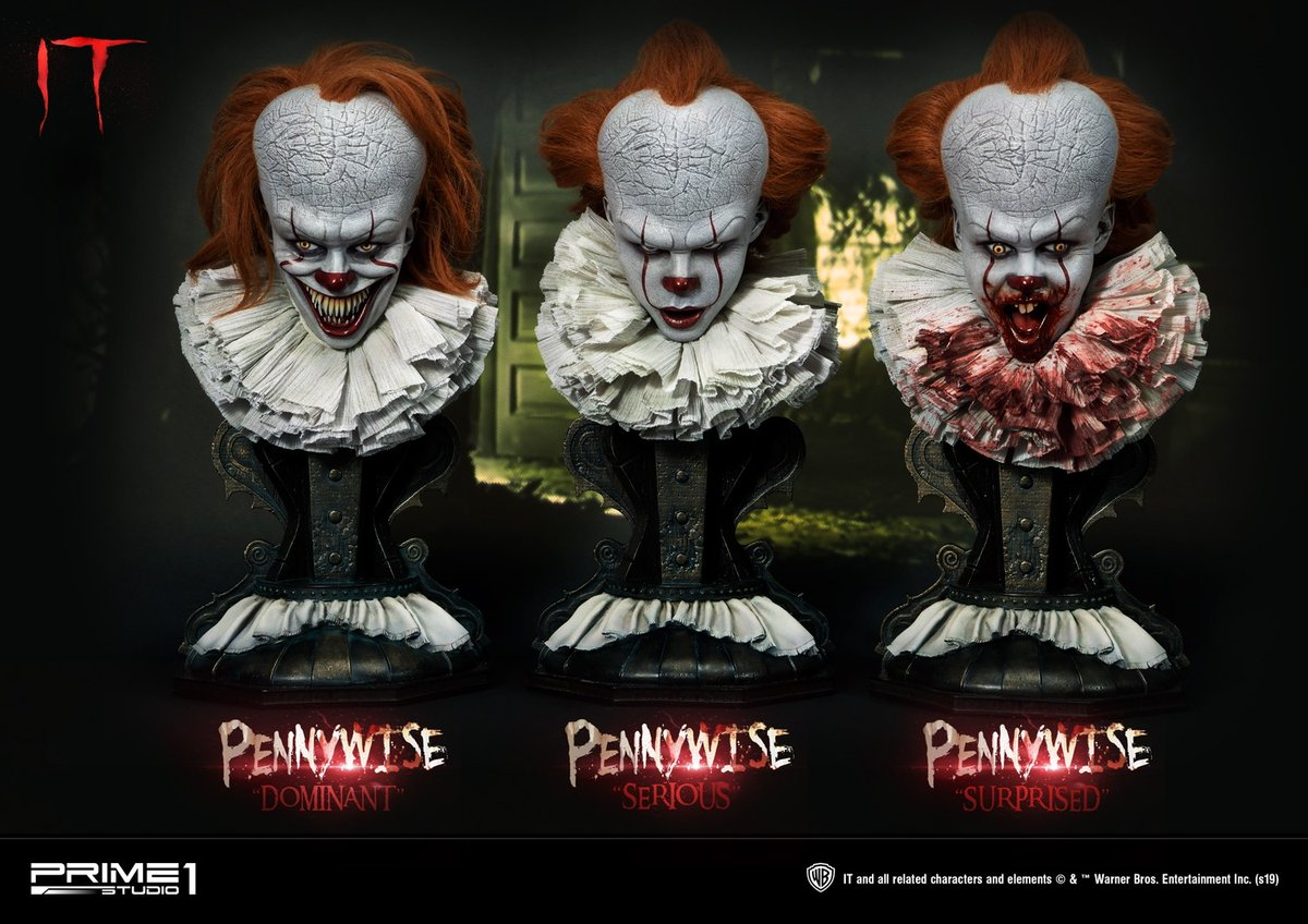 The Three Terrifying Faces of Pennywise: Prime 1 Studio Unveils 'IT