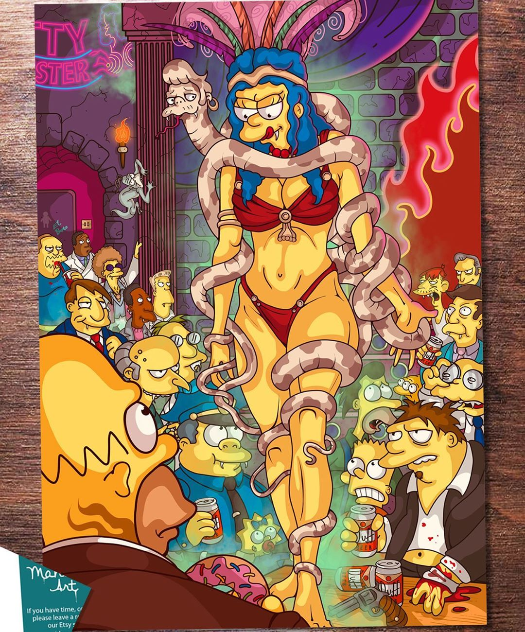 This Artists Simpsons/Horror Mashups Should Hold You Over